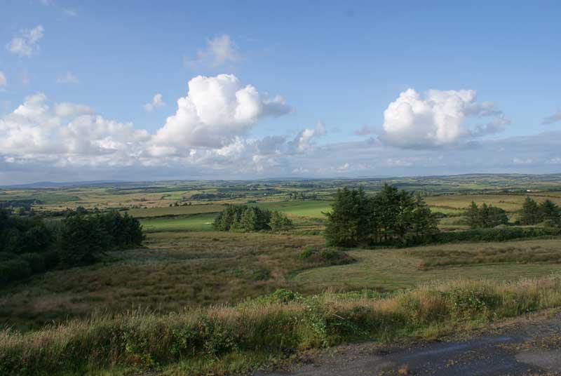 Looking north towards the Burren